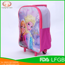 Customized Cartoon Character Kids School Trolley Bag