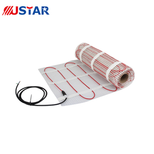 Warm underfloor heating mat for floor heating system