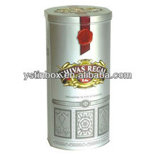 Luxury round tin box for wine bottle packaging tin box for wine