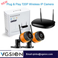 2 Channel Wireless CCTV Camera System CCTV DVR 720P Outdoor IP Camera System