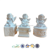 popular resin white angel musical instrument trinket box