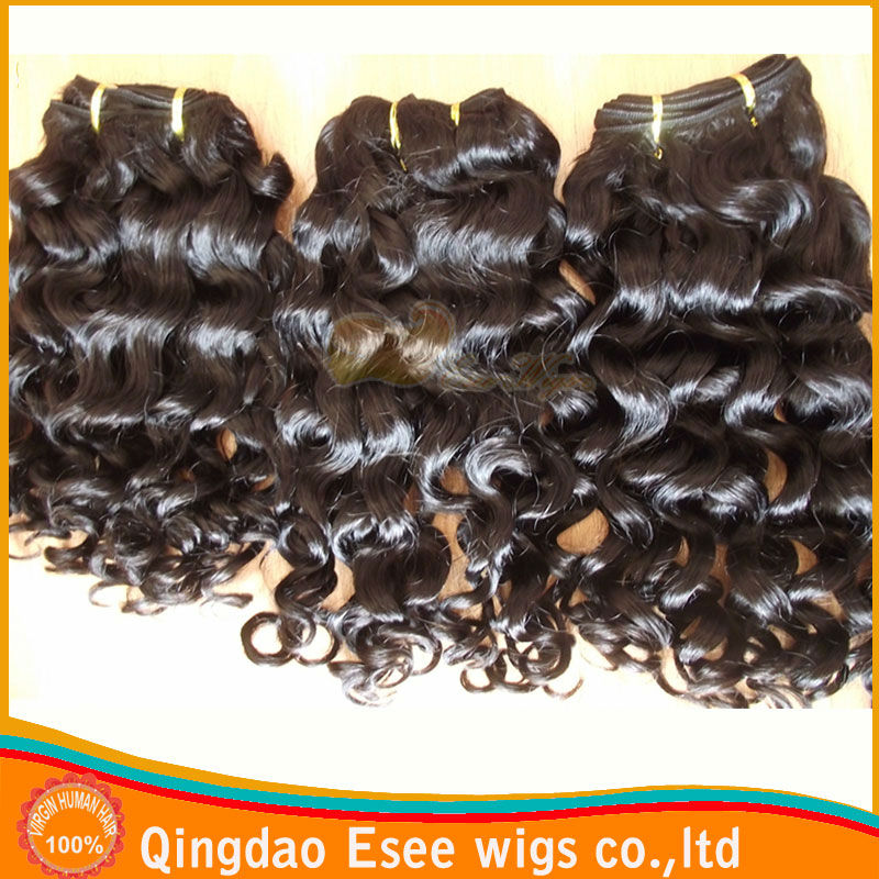 Factory wholesale 100 human hair extensions virgin brazilian different types of curly weave hair 8-32inch
