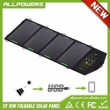 Allpowers 16W Foldable Solar Panel Charger Camping Hiking Outdoor Activities Portable Solar Phone Charger for Smartphone Tablet