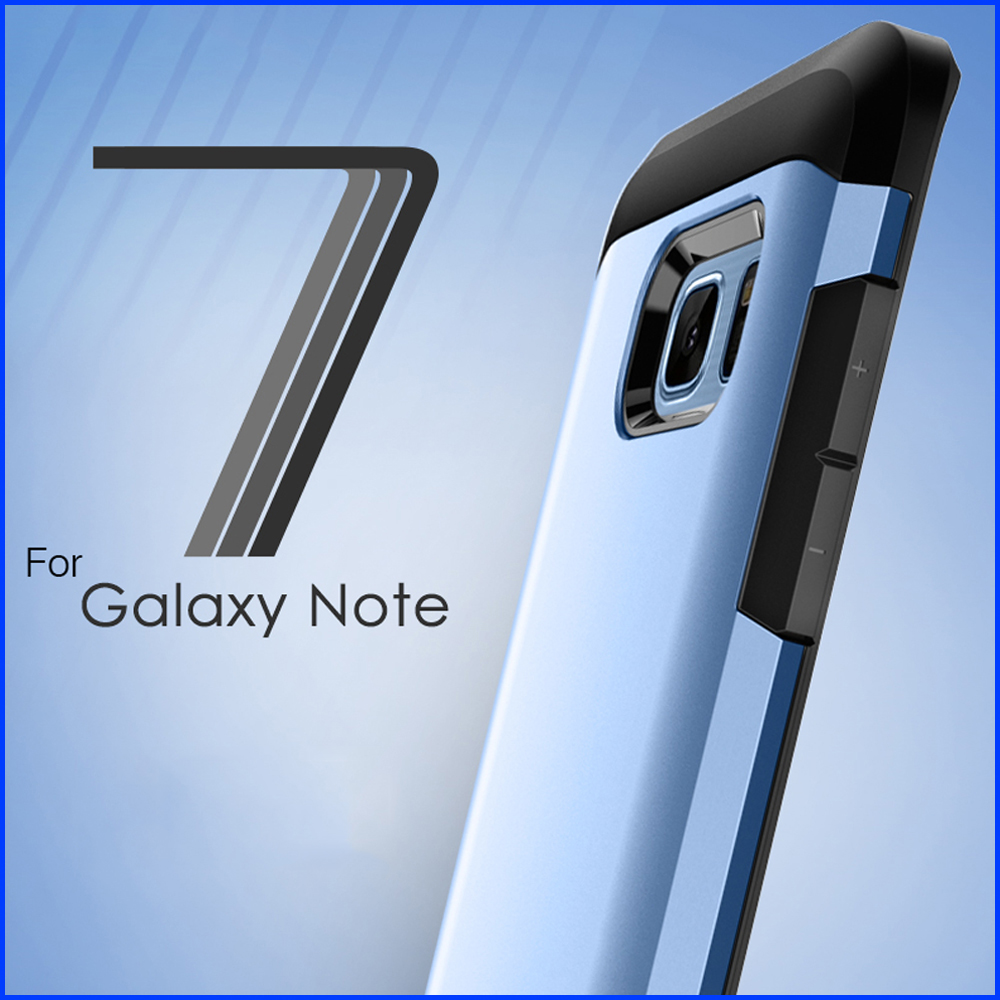 Note 7 PC+TPU Case with Frame 360 degree Protect Silicone Case Back Cover For Samsung Galaxy note 7