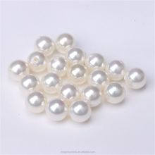 8mm perfect round shell loose pearl large hole pearl beads