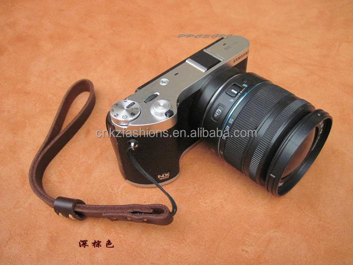 Vintage High Quality Real Leather Camera Wrist Hand Strap