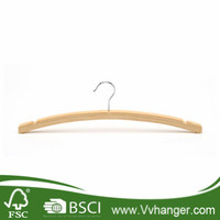 Manufacturer Provide Kids Space-Saving Bamboo Wooden Hanger