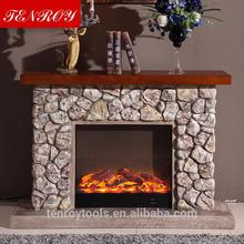 Imitation stone travertine fireplace mantel fireplaces for wood burning stoves with CE certificate