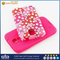 Heart Pattern PC Cover For Samsung For Galaxy S4 I9500 TPU Case
