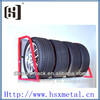 2013 new design tiered tire tyre display rack HSX-111