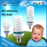 8000hrs 220-240V Tri-Phosphor >65lm/w energy saving lamp/CFL bulb/energy saver bulbs