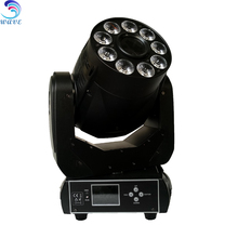 china supplier 90w spot 9pcs 12w rgbwauv 6 in 1 wash led moving head light