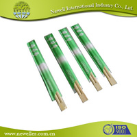 2015 Low price bamboo tensoge chopsticks in whole sealed cello wrapper brown disposable chopstick with paper sleeve