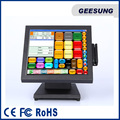 "Metal case housing 15"" TFT LCD touch screen Monitor with MSR"