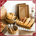Oem china direct wholesale pp rattan handcraft food and fruit baskets