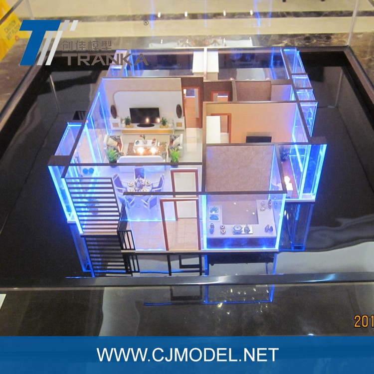 3D architectural interior model / miniature house model for sale