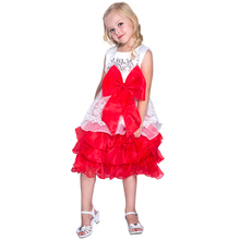 red and white flower Girls Birthday tutu Dress Wholesale Latest Children Frocks Lavender Baby Party Dress