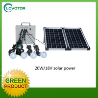 Portable solar lighting kit Mobile home solar panel system with 5V USB charger