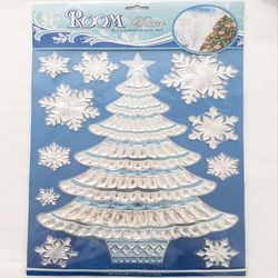 3d snowflake window gel clings christmas decor nursery wall decals