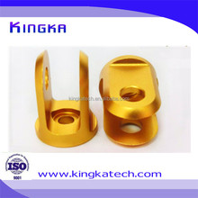 Precision CNC Aluminum Machining Bicycle Parts with Gold Anodizing Finish