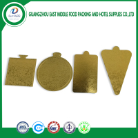 A variety of shapes gold cake cardboard disposable mousse paper mats tray on sales