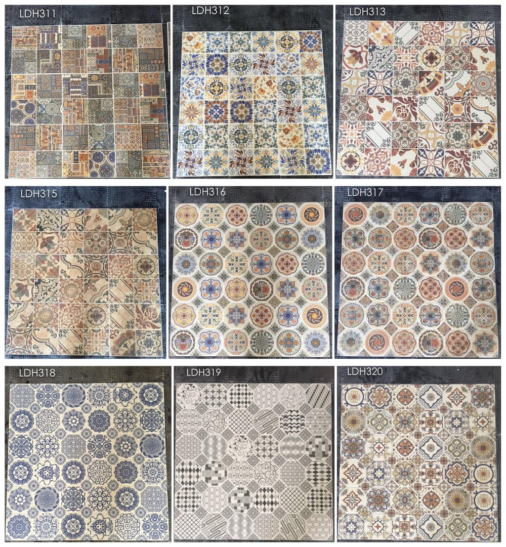 Antique terracotta 60 tiles ceramic spain