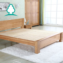 Discount wholesale solid wood king size platform beds and bed frames