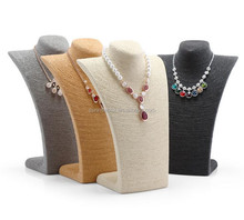 Wholesale high grade velvet PU cloth jewelry necklace bust display
