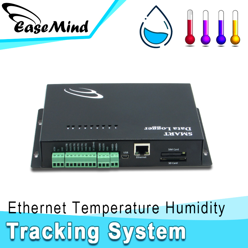 Ethernet Temperature Humidity data loger tracking system for solar panel