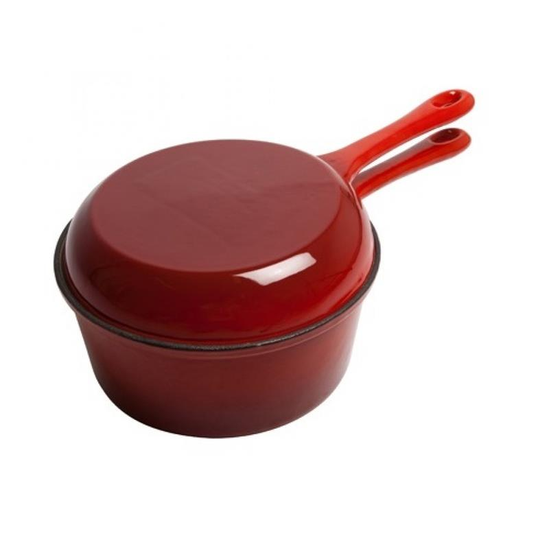 Multifunction Cast Iron Cookware Double Use Fry Pan Sauce Pot