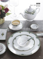 A041 Hot sale bone china royal colorful porcelain dinnerware set