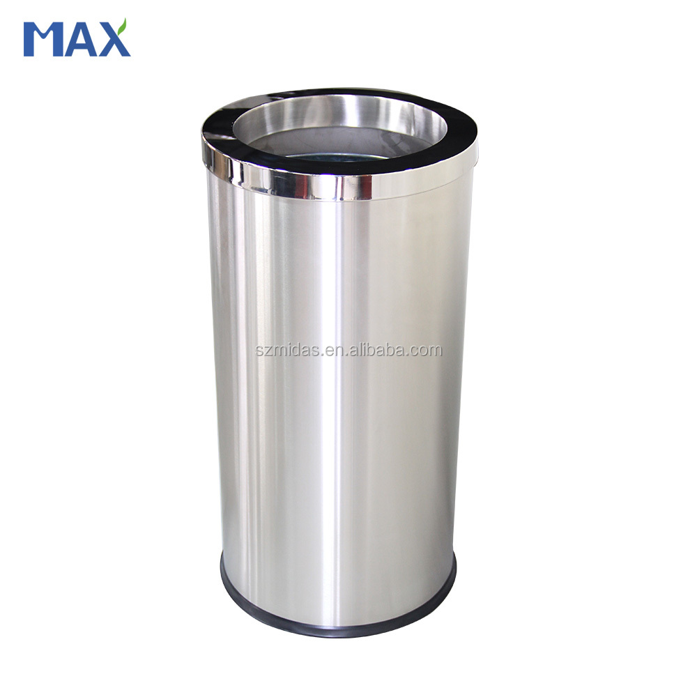 stainless waste replaceable indoor dust bin