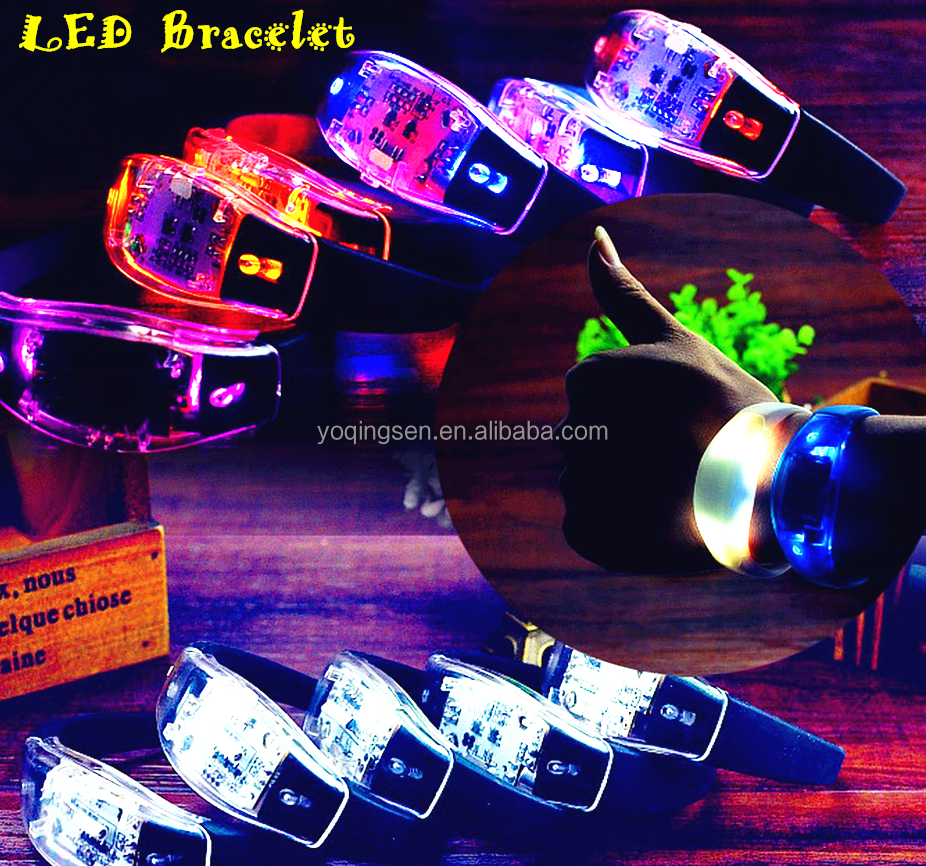 2017 Best Selling Products High quality Customized LED Silicone bracelet Flash Wristband