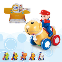 Inertia Cartoon Animal Car Toys Plastic Friction Car Toys for Kids