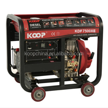 50Hz 5.5kva 5.5kw electric start portable open type diesel generator