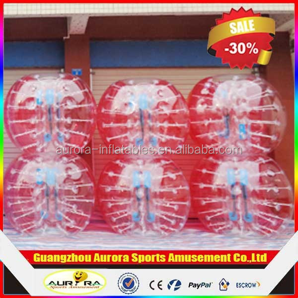 Adult Funny inflatable giant body bubble ball for football games inflatable ball suit