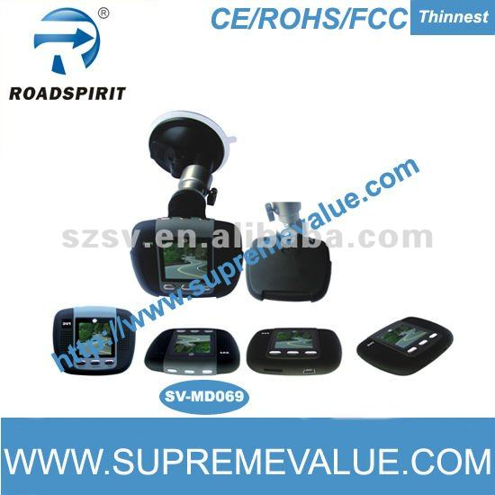 Patent design ultrathin car security digital video recorder with web-cam