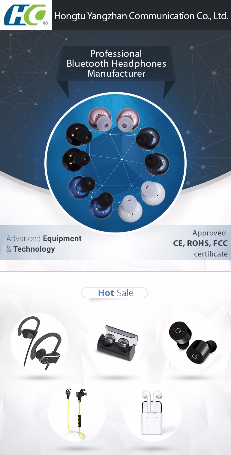 Wholesale samples HT-X2T mini wireless earbuds,mini bluetooth headset for iphone 7 bluetooth headphones with charging case
