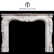 Natural White Marble Fireplace Mantel Shelf