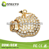 New Design Gem Crystal Flash Memory Disk, Heart Shape Jewelry Usb, Gift