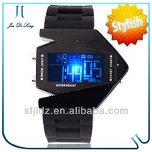 Mirror Face with Digital Display and Silicone Strap nurse fob watch