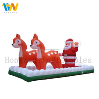 TOP NEW inflatable christmas product,santa claus with David's deer