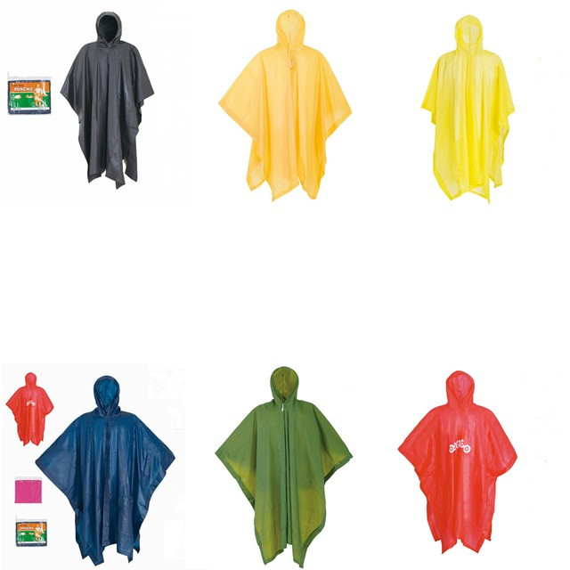 Cheap promotional custom easy to carry folded Logo Printed PVC reusable Rain Poncho
