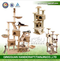 QQPET cat tree house wholesale cat tree house / sisal cat house