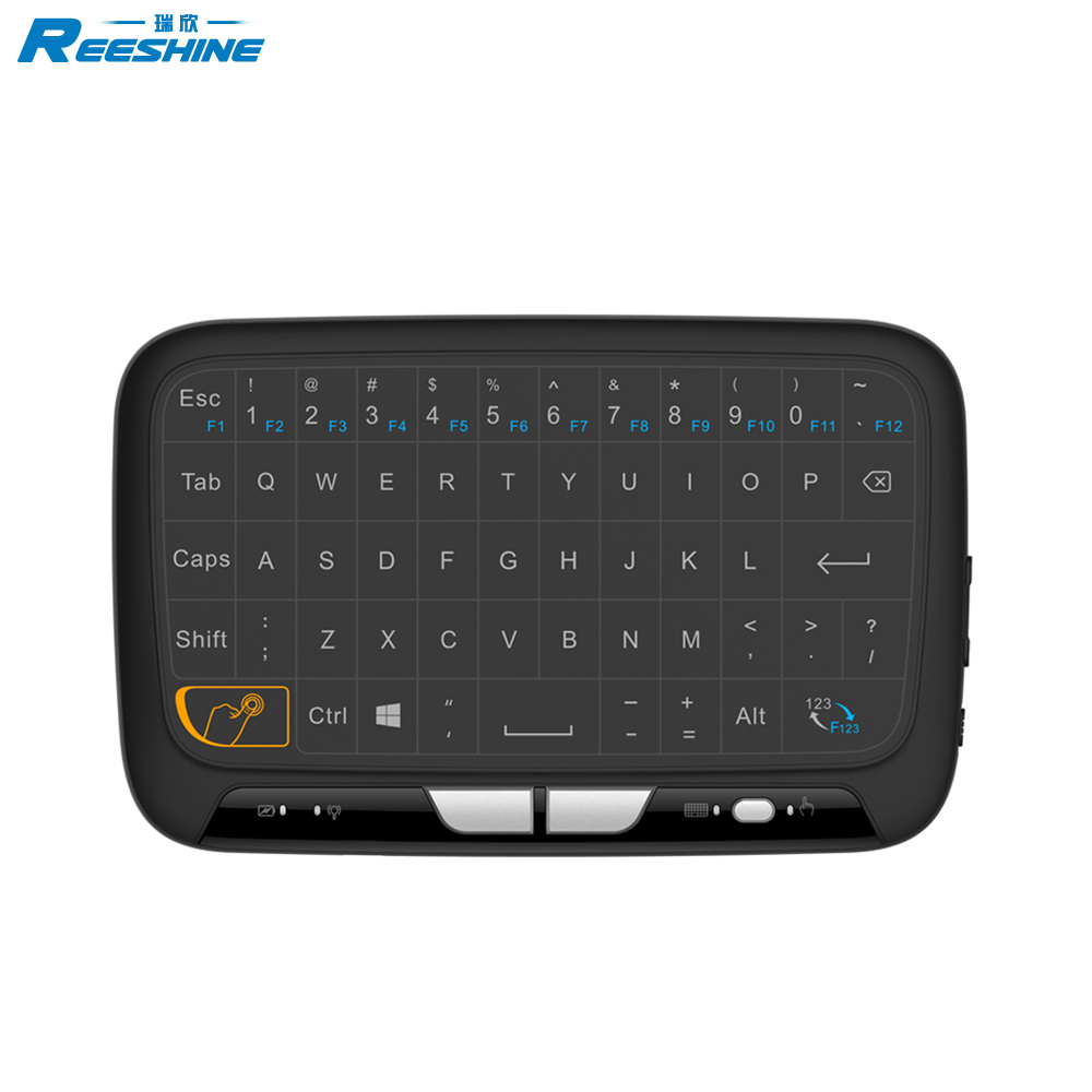 Best Selling H18 Mini Keyboard 2.4g full screen Touchpad Mouse For Android Tv Box