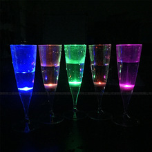 Colorful party glass factory price LED champagne glass for party supplies