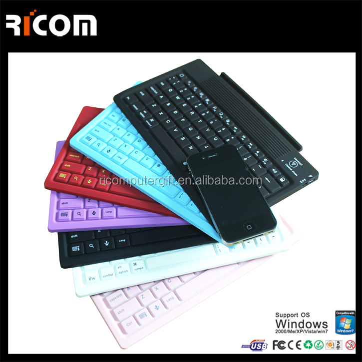 silicone flexible keyboard bluetooth keyboards for tablet---SKB-211B--Shenzhen Ricom
