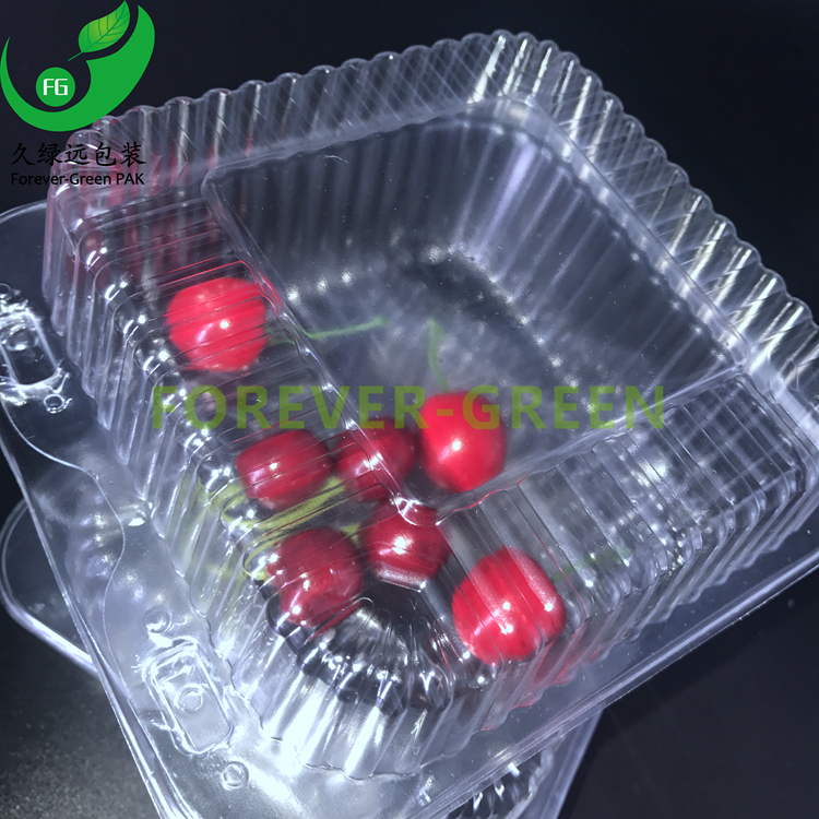 Food Packaging Manufacturer Vacuum Forming Clear Disposable Plastic Fruit Container With Lid