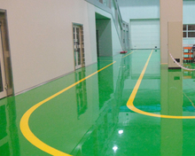 Epoxy floor coating mixed resin