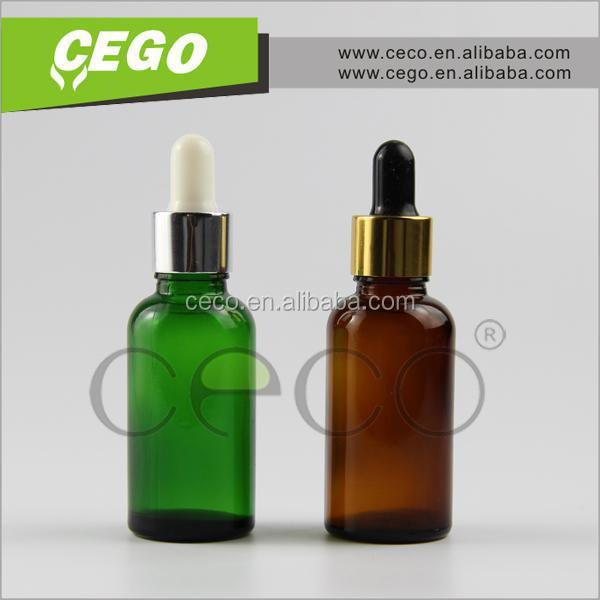 Trade assurance 30ml black glass dropper bottles with childproof dropper and black tube for E-liquid and E-juice packing